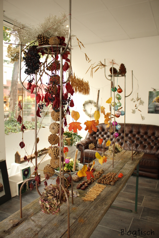 Herbstliche Tischdekoration Blogtisch